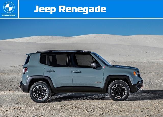Краш-тест Euro NCAP - Jeep Renegade.