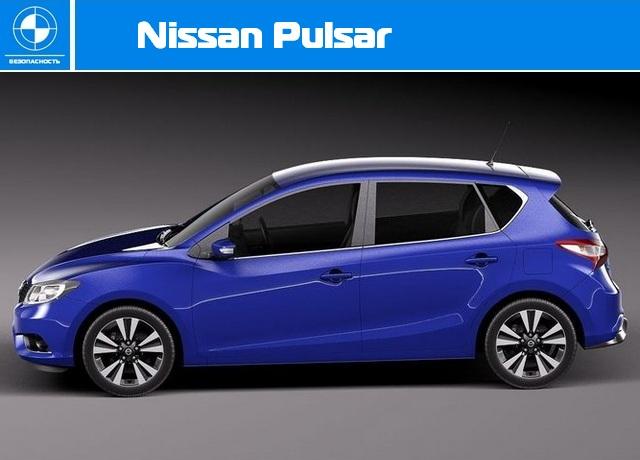 Краш-тест Euro NCAP - Nissan Pulsar.